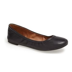 Lucky Brand Emmie Black Leather Ballet Flats 9